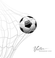 Soccer ball in net vector | Price: 3 Credits (USD $3)