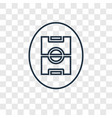 soccer field concept linear icon isolated on vector image
