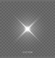 star light shine bright spark rays with lens vector image vector image
