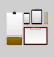 template mockup documentation for business vector image
