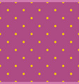 tile pattern with yellow polka dots on dark violet vector image vector image