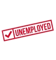 Unemployed rubber stamp vector image vector image