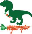 veganraptor vegan dinosaur vector image vector image