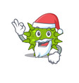 vibrio cholerae santa cartoon character with cute vector image vector image