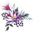 Watercolor tropical composition vector image vector image