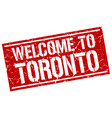 welcome to toronto stamp vector image vector image