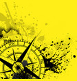 wind rose yellow background vector image