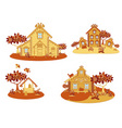 wooden country houses vector image