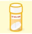 Get well soon healthy card vector image