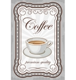 Vintage coffee poster vector image