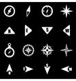 white compass icon set vector image