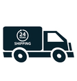 24 Hours Shipping vector image vector image