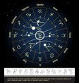 astrological horoscope circle concept vector image vector image
