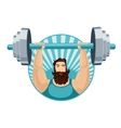 Athlete lifting the barbell Strongman with a iron vector image vector image