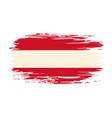 austrian flag brush grunge background vector image vector image