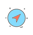 basic icon plane set share design vector image vector image