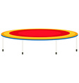 Big trampoline with high legs vector image vector image