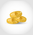 bitcoin over white vector image vector image