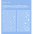 blue card with bubbles vector image