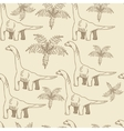 Brontosaurus seamless retro vector image vector image