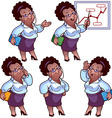 Business woman cartoon character set vector image