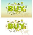 buy banner background design concept vector image vector image