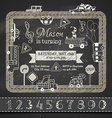chalk Birthday invitation template vector image