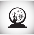 christmas snow sphere on white background vector image vector image