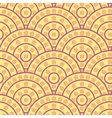 Circle With Flower Shape Seamless Pattern vector image vector image