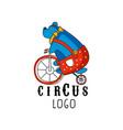 circus logo original design creative badge with vector image vector image