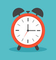 clock alarm with ring icon time and wake watch vector image