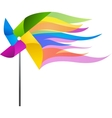 colorful windmill vector image