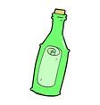 comic cartoon message in bottle vector image vector image