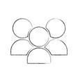 community avatars isolated icon vector image
