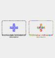 computer medicine mosaic icon triangle vector image vector image