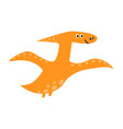cute flying pterosaur in cartoon style funny vector image vector image