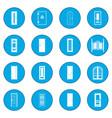 Doors icon blue