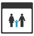 Family Calendar Page Toolbar Icon vector image vector image