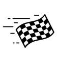 fast moving checkered start flag fast start vector image