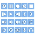 Flat Player Icons with Shadow vector image