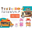 flat street food composition vector image vector image