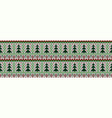 knitted seamless color christmas pattern vector image