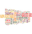 learn master guitar text background word cloud vector image vector image