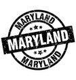 maryland black round grunge stamp vector image vector image