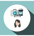 Medical care design Health care icon Colorful vector image