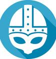 Medieval Helmet Icon vector image vector image