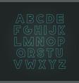modern neon font - creative design trendy vector image vector image