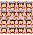 monkey seamless pattern vector image vector image