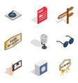 music maker icons set isometric style vector image vector image