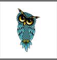 owl logo design vector image